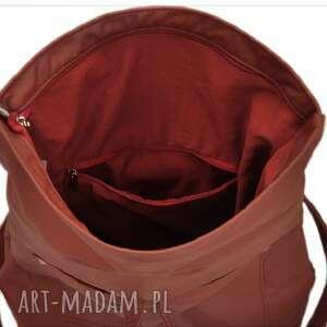 c8652f3ac90cc 29 -0001 bordowa torebka plecak 2w1 damski do szkoły swan