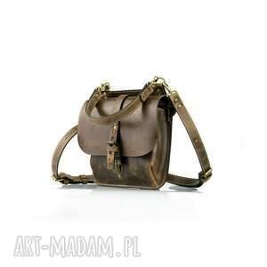torebka brązowa torba plecak