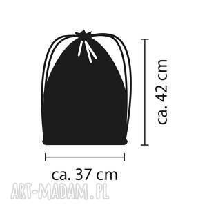 handmade łączka czarny worek