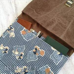 ręcznie zrobione mini plecak damski