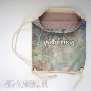 plecaki bawełna gratefulness plecak / worek torba