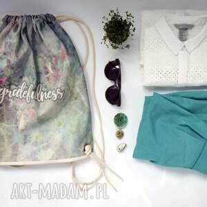hand made bawełna gratefulness plecak / worek torba