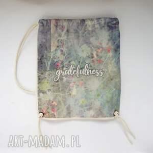 hand-made plecaki eco gratefulness plecak / worek torba