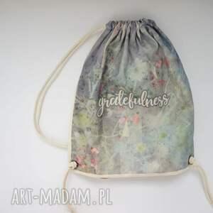 bawełna gratefulness plecak / worek torba