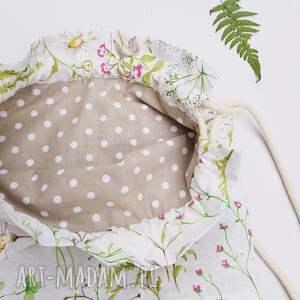 beżowe plecaki worek leśny plecak