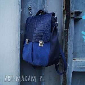 niebieskie plecaki smocza lilith chimera skóra
