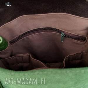 efektowne skóra lilith chimera plecak/torba zielona