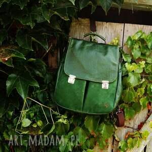 skóra plecaki lilith chimera plecak/torba zielona