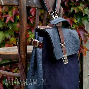 ręcznie wykonane granat lilith plecak/torba granatowa