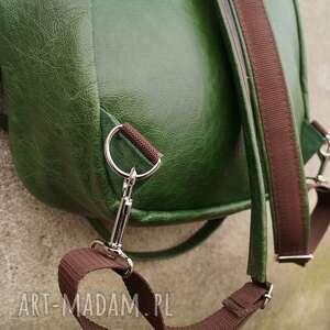 efektowne plecaki pullup lilith plecak/torba zielona skóra