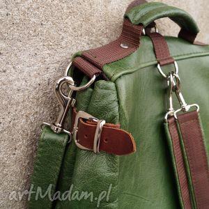 zielone plecaki pullup lilith plecak/torba zielona skóra