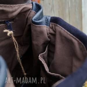 ręcznie wykonane torba lilith plecak/torba granatowa