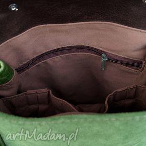 zieleń plecaki lilith plecak/torba zielona skóra