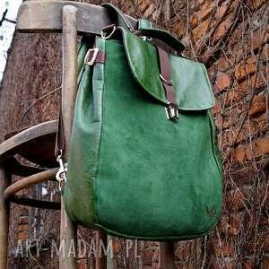 plecaki zieleń lilith plecak/torba zielona skóra