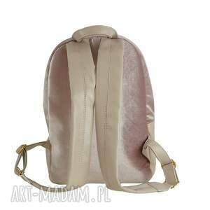 0b7ff1f13087c plecaki, torebki - manzana duży plecak szkolny a4 pudrowy róż