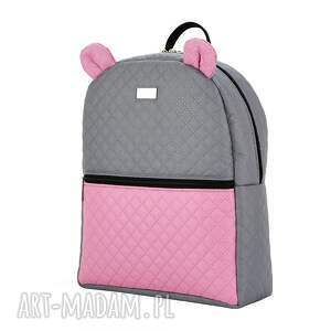 niepowtarzalne pikowany plecaczek farbiś 998 szaro różowy