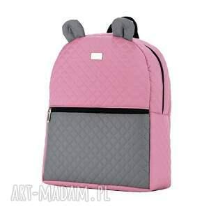 plecaki plecak plecaczek farbiś 703 różowo-szary