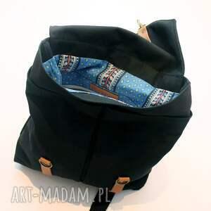 handmade bawełna plecak czarny