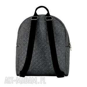 pojemny plecaki plecak damski 706 szary melanż