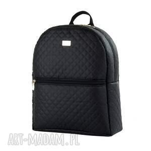 unikalne pikowany plecak damski 642 czarny