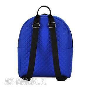 plecaki pikowany plecak damski 1014 chabrowy