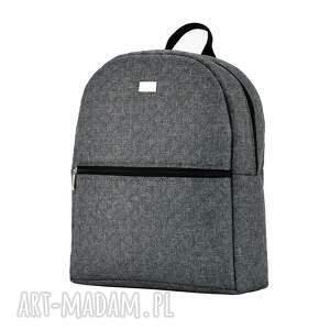 plecaki pojemny plecak damski 706 szary melanż