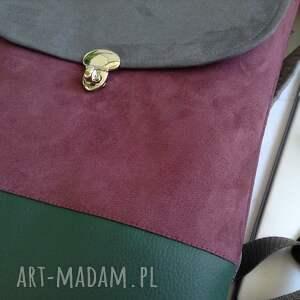 zielone plecak na laptopa