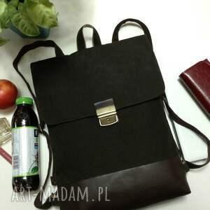 brązowe plecaki plecak na laptopa unisex