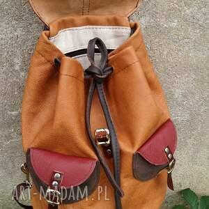 plecaki kieszenie plecak skórzany cycylia brązy i