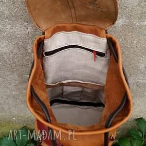 kobiecy plecaki czerwone plecak skórzany cycylia brązy