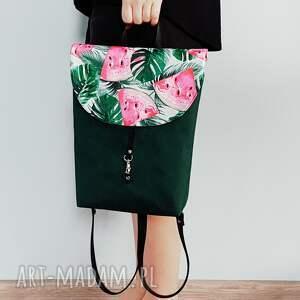 modne plecaki plecak teczka butelkowa zieleń
