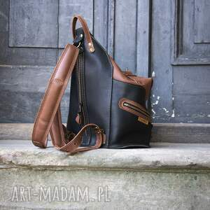 intrygujące plecak torba skórzana torebka