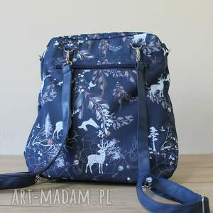 gustowne plecak torba listonoszka - jelenie