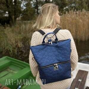 ekologiczna plecak / torba 2 w 1 z granatowej
