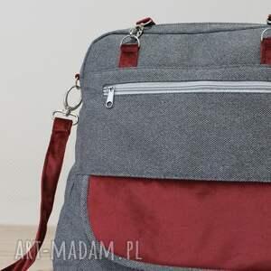 ręcznie robione elegancka plecak torba listonoszka - tkanina