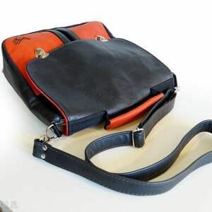 retro czerwone plecak / torba czarno czerwona