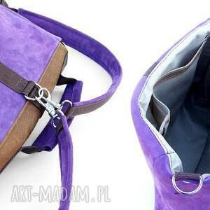 brązowe plecaki torba plecak / liliowo-brązowa