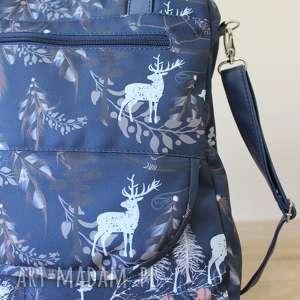 plecak niebieskie torba listonoszka - jelenie