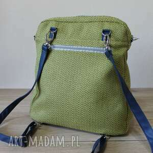 niebieskie plecaki nowoczesna plecak torba listonoszka - tkanina