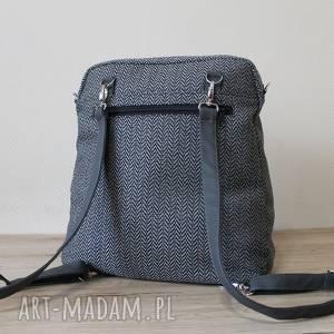 żółte nowoczesna plecak torba listonoszka - tkanina