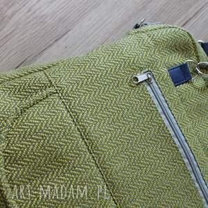 elegancka plecaki żółte plecak torba listonoszka - tkanina