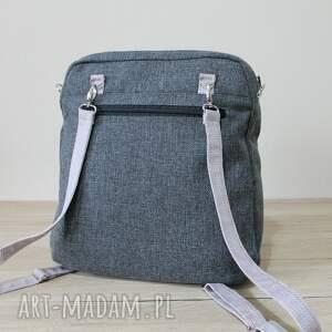 pakowna plecak torba listonoszka - tkanina