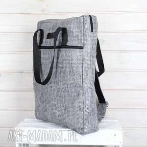 szare plecaki torba plecak 2w1 023 na rower