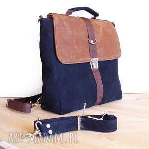 plecak plecaki niebieskie / torba granat-orzech
