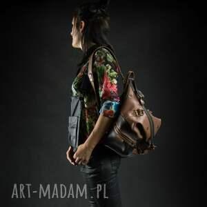 plecak torba skórzana torebka podróżna ręcznie robiony ladybuq art oryginalny ramię