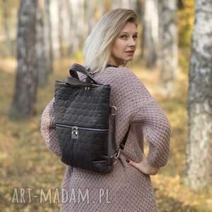 ręcznie zrobione plecak2w1 plecak / torba 2 w 1 szary pikowany