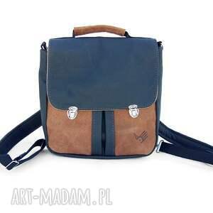 plecaki tornister plecak / torba czarno -brązowa