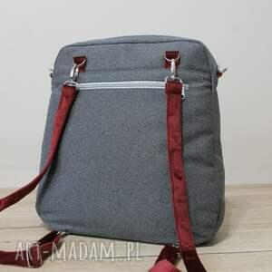 ręcznie robione pakowna plecak torba listonoszka - tkanina