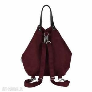 plecaki wygodny plecak torba 2 in1 bakłażan
