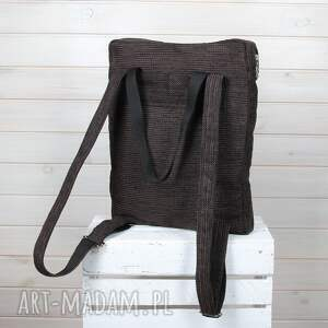 brązowe plecaki plecak torba 009